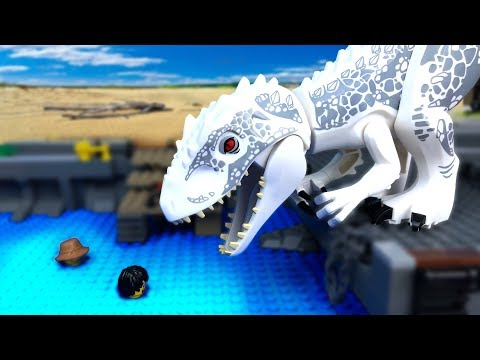 LEGO Мультики про ДИНОЗАВРОВ ???? ЛЕГО Мир Юрского Периода -14 (Атака ИНДОМИНУСА)