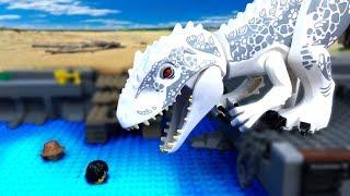 LEGO Мультики про ДИНОЗАВРОВ 🦖 ЛЕГО Мир Юрского Периода -14 (Атака ИНДОМИНУСА)