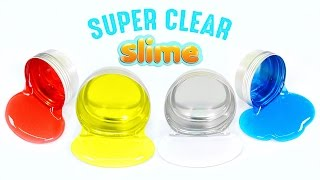 DIY Super Clear Slime ! Crystal Liquid Slime (Without Borax) MonsterKids