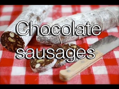 How to make chocolate sausages