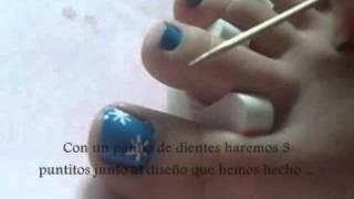 Primer diseño de uñas para pies