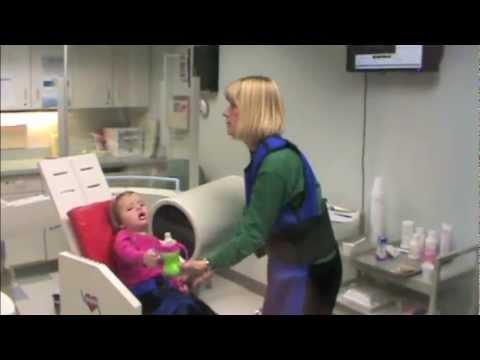 Barium swallow study infant