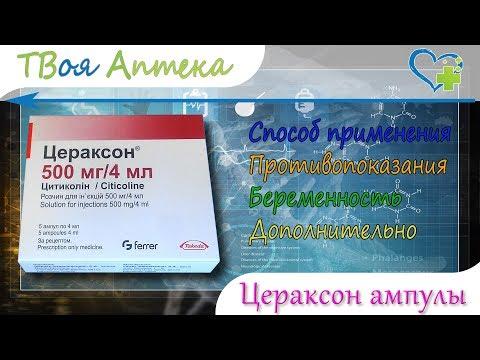 Цераксон ампулы - показания (видео инструкция) описание, отзывы - Цитиколин