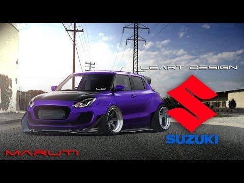 Wide Body Beast Suzuki Swift/Maruti Virtual Tuning Photoshop