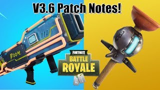 Fortnite: Patch Notes Review - Patch v3.6 - Nouvelle Grenade collante!