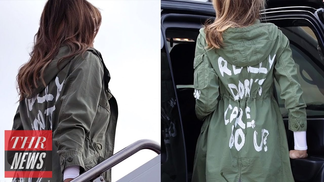 "Trump Says First Lady's ""I Really Don't Care"" Jacket Refers to ""Fake News Media"" 