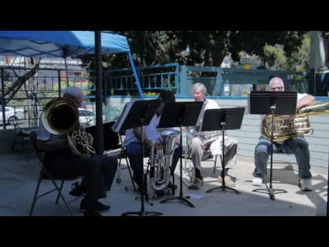 The Big Brass Quartet, Tuba Concert, San Diego, April 2016
