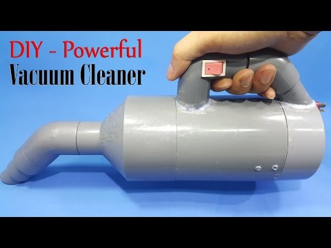 How to Make a Powerful Vacuum Cleaner Using 775 Motor and PVC Pipe