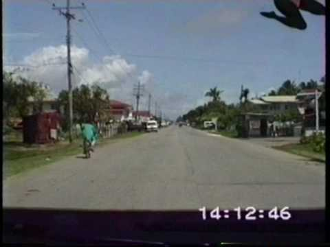 "Minibus drive along ""West Coast"" road, Guyana"