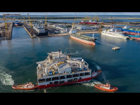 """Drydocking of the Research/Survey vessel """"RAMFORM ATLAS"""" at LISNAVE"""