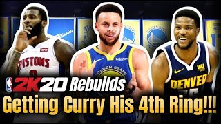 NBA2K20 Warriors Realistic Rebuild | TRADING D'Angelo Russell!?!?!
