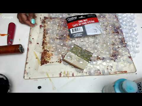 Gelli Printing with $1 Store Stencil Finds!