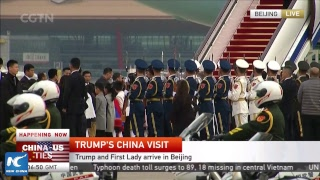 LIVE: Donald Trump arrives in Beijing for first state visit to China