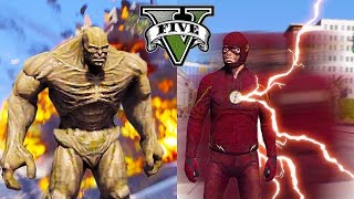 GTA 5 PC - The Flash Fighting Abomination ! The End Of The World ? (Superhero Flash Gameplay)