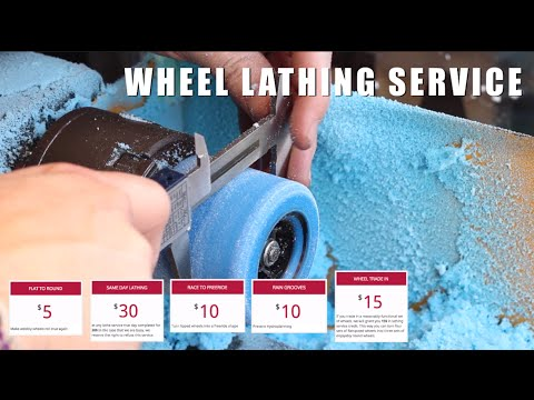 Flatspot Longboards Wheel Lathe Services - Freeride Wheels