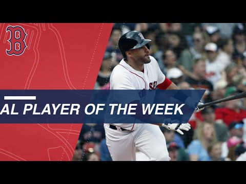 J.D. Martinez is the AL Player of the Week