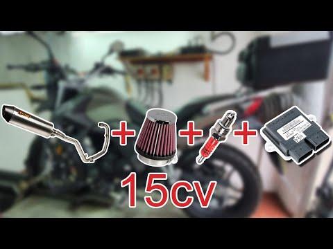 Obtener 15cv en la Montana XR1 125cc