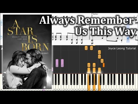 Lady Gaga - Always Remember Us This Way - Piano Tutorial & Sheets