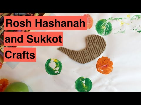 18 KIDS CRAFT ACTIVITIES FOR ROSH HASHANAH AND SUKKOT (High Holidays 2019 Series)