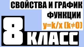 АЛГЕБРА   8 КЛАСС   Свойства и график функции y=k/x (k≠0)