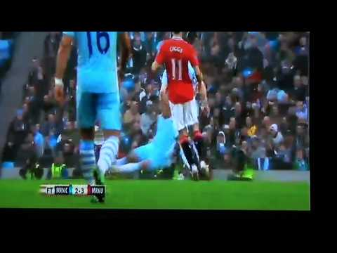 Manchester United 3-2 Manchester City HD 08-01-2012 Vincent Kompany Red Card.MTS