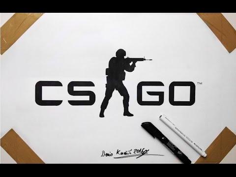 CS GO Logo Drawing - Fan Art Counter Strike