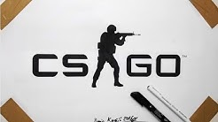 CS GO Logo Drawing - Fan Art Counter Strike