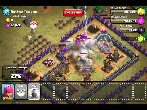Clash of Clans Rolling Terror - 2 Stars