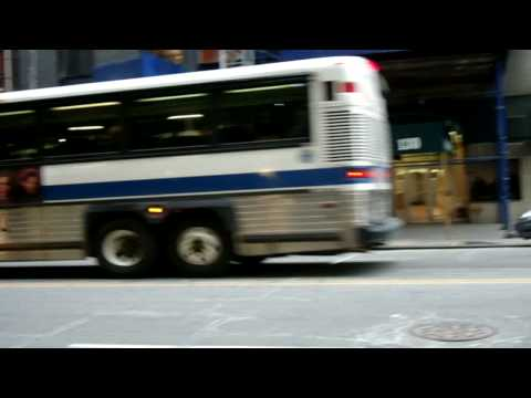 NYCTA : MCI D4500 2149 On the X1 @ Pearl Street