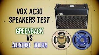vox ac30 speakers test greenback vs alnico blue