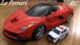 RC Toy Cars: New Bright Laferrari Remote Control Sports Car and a Police Car Unboxing
