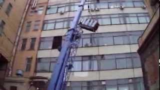 видео Погрузка полиграфического оборудования.