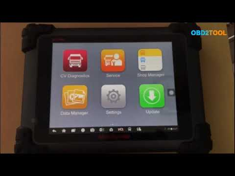 Autel MaxiSYS MS908CV Heavy Duty Diagnostic Scan Tool Model test and  function introduction