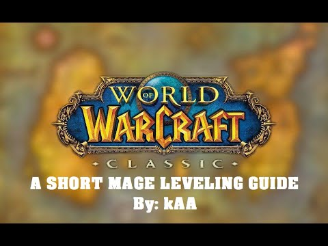 Classic WoW - Level 23 Mage aoe farming Gnolls in Wetlands