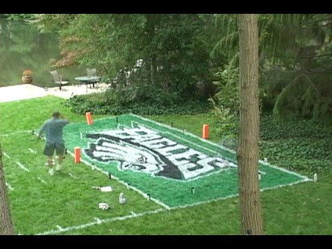 Backyard Football Plays eagles back yard football field - youtube