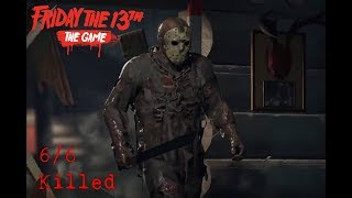 Friday the 13th The Game - Jason Part 7 - 6/6 Killed