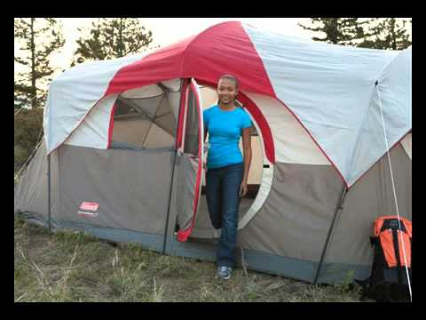 Coleman Weathermaster 10 Person Hinged Door Tent Youtube