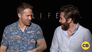 Ryan Reynolds and Jake Gyllenhaal Talk LIFE Movie