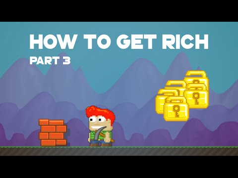 Growtopia - Dirt To Cape (Easy Way To Get Rich) Part 3