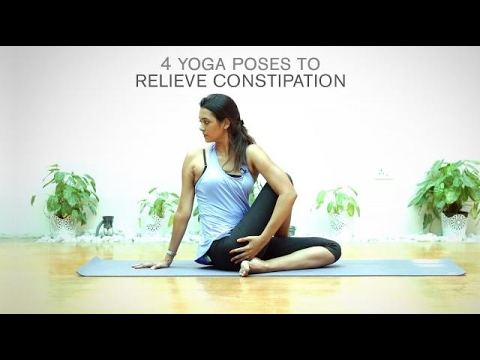 4 yoga poses to relieve constipation  youtube