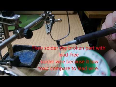 How to solder broken eyeglasses frame