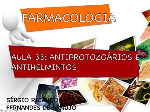 Curso de Farmacologia: Aula 33 - Antiprotozoarios e antihelminticos parte II