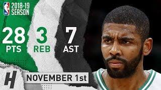Kyrie Irving Full Highlights Celtics vs Bucks 2018.11.01 - 28 Pts, 7 Ast, 3 Rebounds!