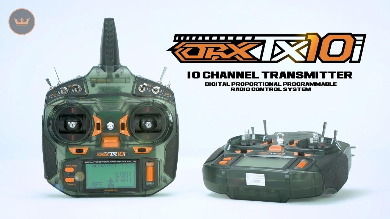 OrangeRx TX10i Full Range 2 4GHz DSMX/DSM2 Compatible 10CH Radio System  (Mode 2) International Ver