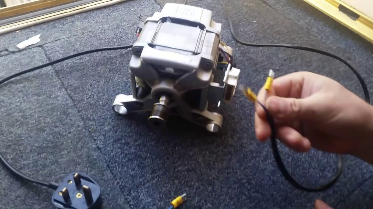 How to wire a washing machine motor  YouTube