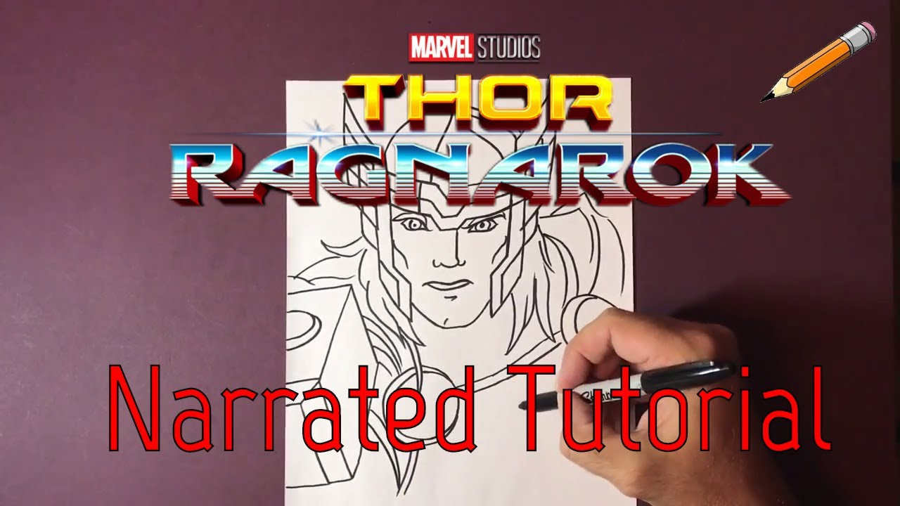 How to draw marveldraw thorthor ragnarokdrawing tutorial of thorstep by step drawing of thor