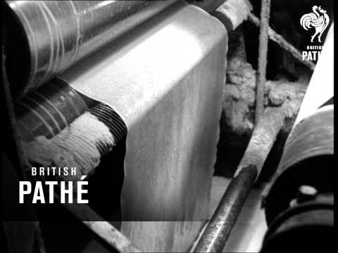 Weaving Linen - British Pathe Video