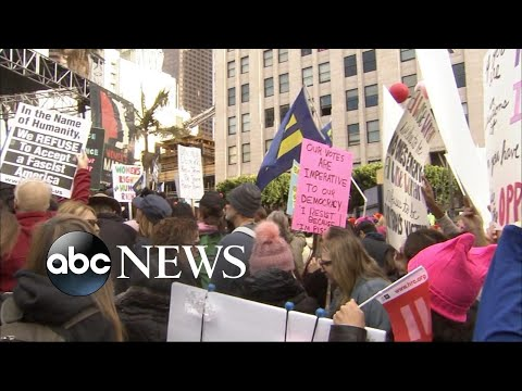 Hundreds of thousands of women march in major cities