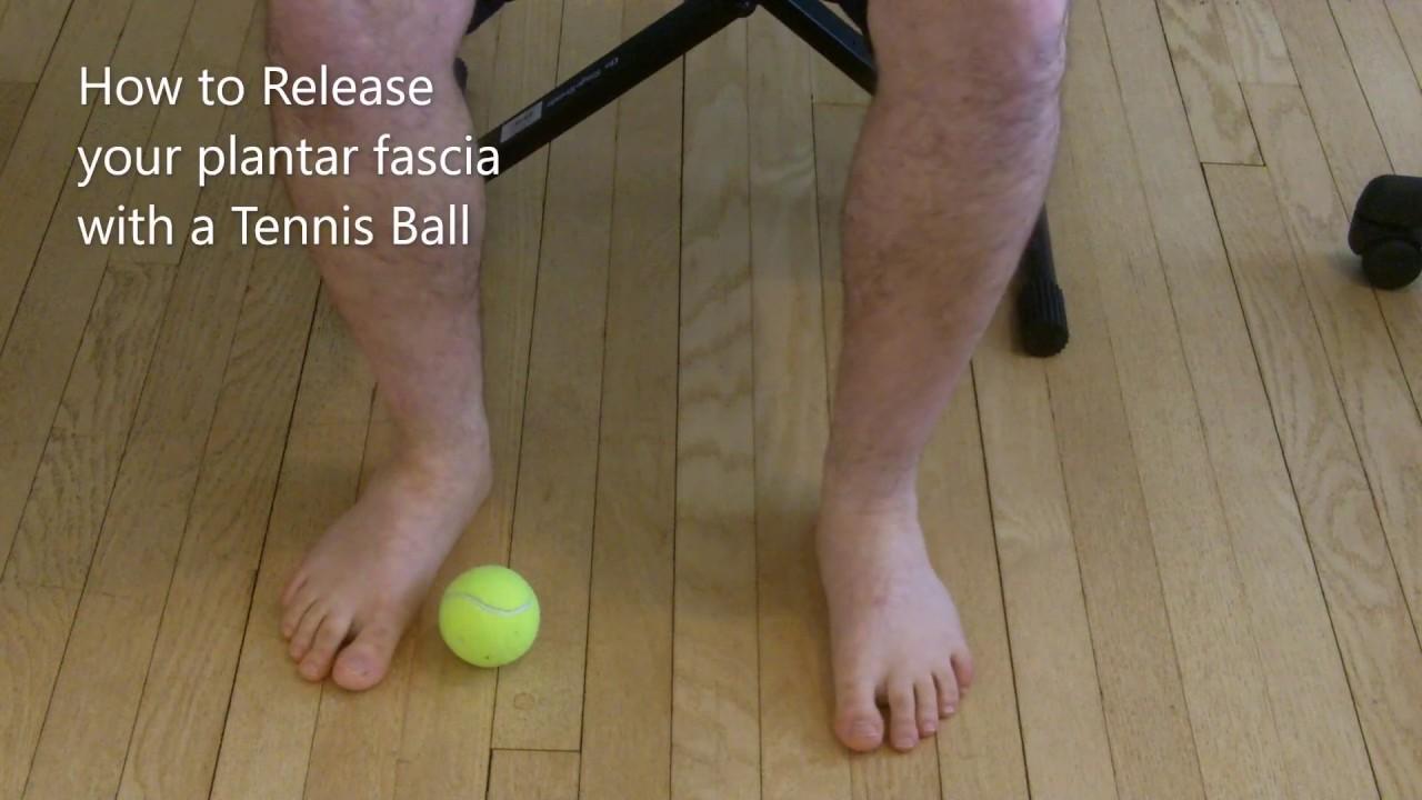 Plantar Fascia Foot Release: Tennis