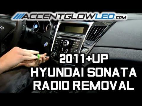 2013 hyundai sonata speaker wiring diagram    hyundai       sonata    radio disassembly removal 2011 2014     hyundai       sonata    radio disassembly removal 2011 2014